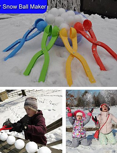 ANDP Winter Snow Ball Maker Sand Mold Tool Kids Toy Lightweight Compact Snowball Fight Outdoor Sport Tool Toy Sports , random color