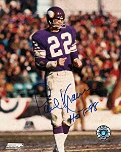 Autographed Hand Signed Paul Krause 8x10 Photo - Minnesota Vikings by Hall of Fame Memorabilia