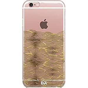 DailyObjects Gold Waves Clear Case For iPhone 6S Plus