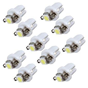 10x ampoule led smd compteur tableau de bord b8 5d t5 avec support blanc tuning. Black Bedroom Furniture Sets. Home Design Ideas