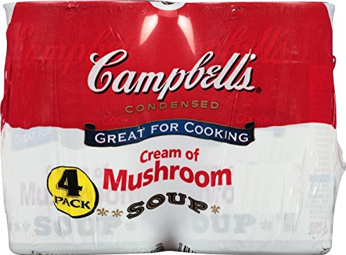 Campbell's Condensed Soup, Cream of Mushroom, 10.5 Ounce (Pack of 4) (Campbell Cream Of Mushroom compare prices)