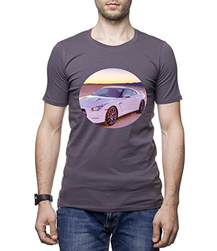 Ford Mustang Sports Car Men's Men's CLIVE Crew Neck Tshirt Grigio X-Large