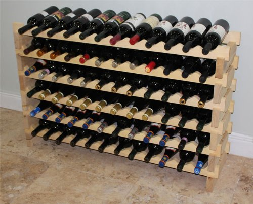 Stackable 72 Bottles Modular Wine Storage Racks, 47