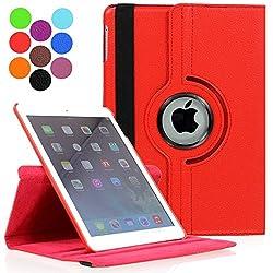 ProElite 360 Degree Rotatable Smart Flip Case cover for Apple iPad Mini 4 [Wake & Sleep Function] (Red)