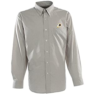 Antigua Mens Washington Redskins Focus Cotton Polyester Woven Mini Check Button by Antigua