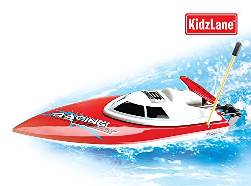 Kids Remote Controlled High-Speed Racing Boat, 80 Ft. Control Range, Rechargeable Battery,(Colors May Vary) front-816270