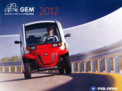 2012 Polaris Gem Electric Car 16-Page Original Sales Brochure Catalog