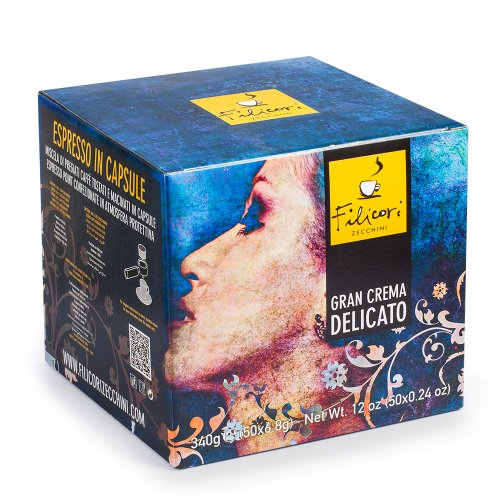 Filicori Zecchini Coffee in Cartridges (Lavazza Espresso Point Compatible)* - Gran Crema Delicato - 50x0.24oz