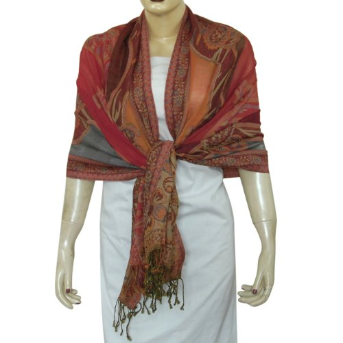 Long Wool Stoles Fashion Scarves and Wrap for Womens