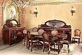 Copia di sala da pranzo barocco stile antico vetrina credenza tavolo sedie moes1678