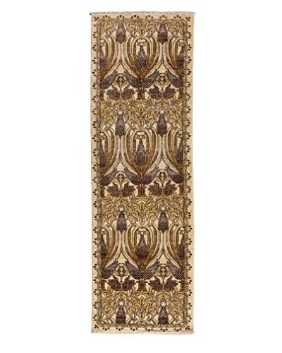 Darya Rugs Arts & Crafts Handmade Rug, Ivory, 2' 6 x 8' 5 Runner