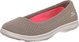 Skechers Performance Womens Go Step Primary Walking Shoe, Taupe Mesh, 8 M US