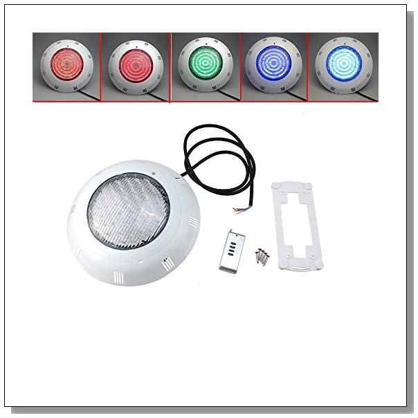 AGPtek RGB 5 Colors 558 LED Underwater Swimming Pool Light Fountains Wall Lamp with Remote Control