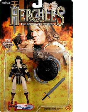Hercules The Legendary Journeys 1995 Popular TV Series 5 Inch Tall Action Figure - XENA Warrior Princess Weaponry with Sword and Shield - 1