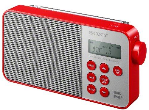 Sony XDRS40 DAB/DAB+/FM Ultra Compact Digital Radio - Red