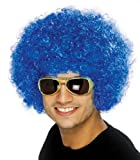 Perücke Lockenkopf Blau Afro Afroperücke