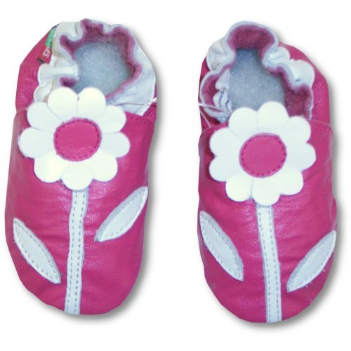 Image of Tendertoes Lamb Leather Fuchsia Flower Shoes (B000XVDEAY)