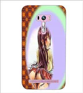 PrintDhaba Exposing Girl D-2949 Back Case Cover for ASUS ZENFONE SELFIE ZD551KL ULTRA (Multi-Coloured)
