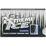 Gerrit's Extreme Ice Sugar Free Black Licorice Chewing Gum, 12-Piece Packages (Pack of 12)