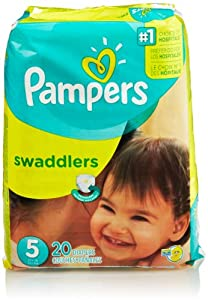 Pampers Swaddlers Diapers, Size 5, Jumbo Pack, 20 Count