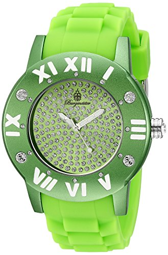Burgmeister Magic Women's Quartz Watch with Green Dial Analogue Display and Green Silicone Strap BM165-090B