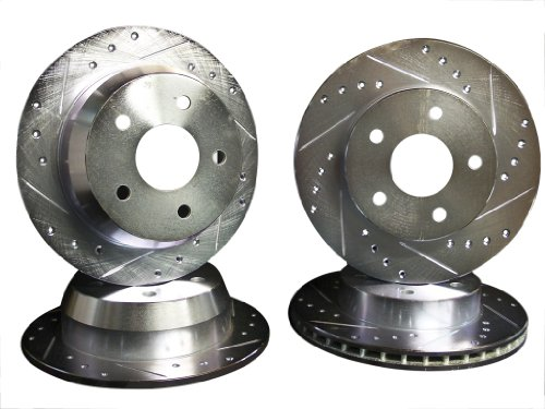 1999 2000 2001 2002 2003 2004 Jeep Grand Cherokee Akebono Front + Rear Brake Disc Rotors +Pads