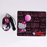 Hello Kitty Laptop Optical Mouse Mousepad Mat Set
