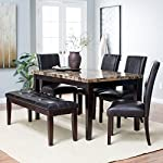 Finley Home Palazzo 6 Piece Dining Set with Bench