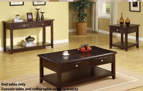 Cheap End Table with Storage Drawer in Espresso Finish (VF_F6222)