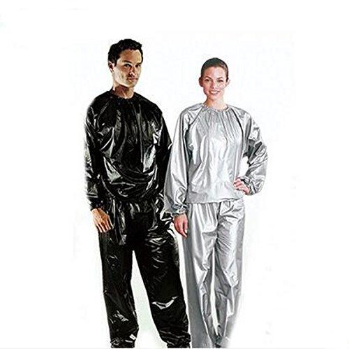 Elwow Damen Herren Sauna Sweat Suit Track Gewicht Verlust slimmimg, Fitness Fitness Training Workout für, Long Top und Hosen, XL