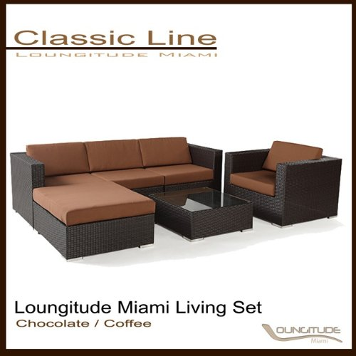 Outdoor Wicker Sofa Sectional Patio Living Set Furniture 6 Pces
