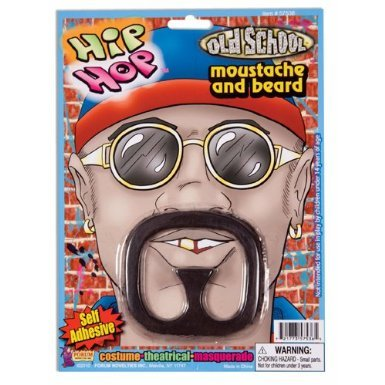Rap Star Costume Beard and Moustache