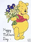 Winnie the Pooh Mother's Day Cross Stitch Kit - Disney - 14 Count
