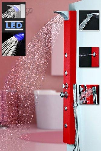 Sanlingo – pannello doccia led con soffione a cascata/pioggia e ...