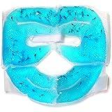 ホット/クール用フェイスマスク (ブルー)