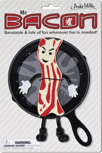 Mr. Bacon Bendable Shaped Action Figure Toy Novelty