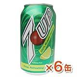 7up セブンアップ-レモンライム味【6缶】355ml(お1人様2セットまで購入可能)