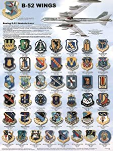 (18x24) B-52 Airplane Wings Educational Military Chart Poster