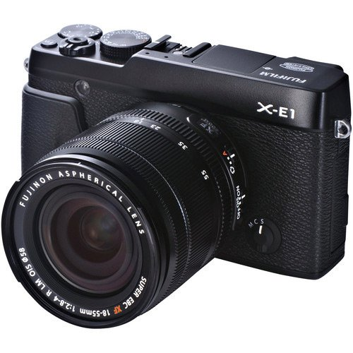 Fujifilm X-E1 16.3MP Compact System Digital Camera with 2.8-Inch LCD- Kit with 18-55mm Lens (Black) (Fujifilm Xe 1 compare prices)