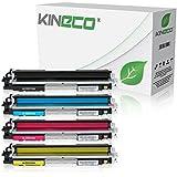 4 Toner kompatibel zu HP CE310-CE313 für HP LaserJet Pto 100 Color MFP M175, Pro M275, Color LaserJet Pro CP1021, CP1025, CP1028 - CE310A-CE313A - Schwarz 1.200 Seiten, Color je 1.000 Seiten