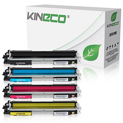 4 Toner kompatibel zu HP CE310-CE313 für HP LaserJet Pto 100 Color MFP M175, Pro M275, Color LaserJet Pro CP1021, CP1025, CP1028 – CE310A-CE313A – Schwarz 1.200 Seiten, Color je 1.000 Seiten