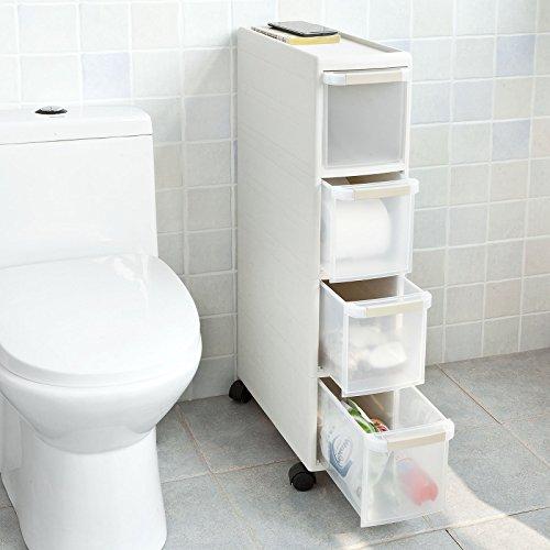 SoBuy® Carrellino salvaspazio,carrellino per il bagno, portaoggetti ...