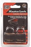 Master Lock 131T Solid Brass Keyed Alike Padlock, Black Cover, 3/16-inch Shackle, 2-Pack