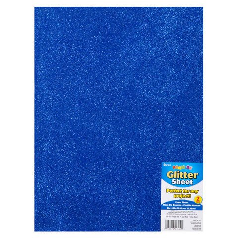 Bulk Buy: Darice Foamies Glitter Foam Sheet Royal Blue 2mm thick 9 x 12 inches (3-Pack) 106-919