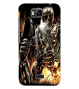 ColourCraft Demon Design Back Case Cover for HUAWEI HONOR BEE