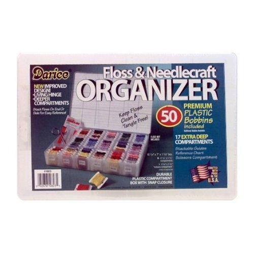 Deep Organizer Box With 50 Plastic Bobbins