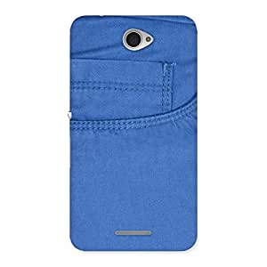 Men Royal Blue Back Case Cover for Sony Xperia E4