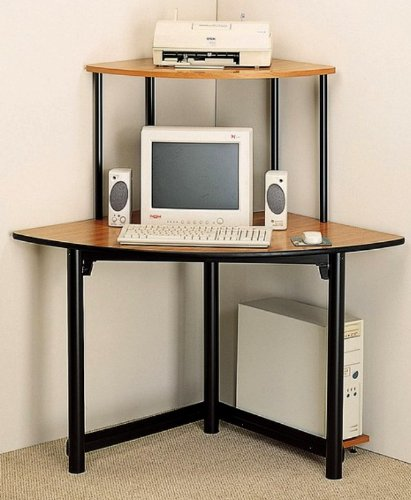 Buy Low Price Comfortable Altus Corner Metal/Wood Computer Desk Workstation (B003Y5ACOW)
