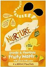Nutrir con sabor a fruta Agua + naranja y piña de 1 año 4 x 200 ml
