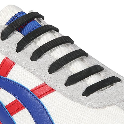 INMAKER 3 Sizes Elastic No Tie Shoelaces for Adults Kids Cool Multi-color Silicone Shoelaces for Sports Fans of All Ages